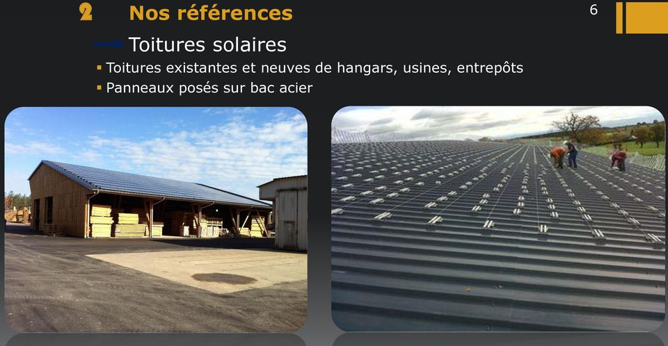 neuves de hangars, usines,