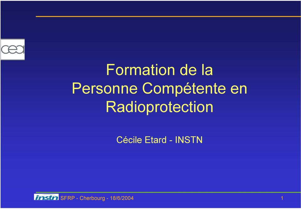 Radioprotection Cécile