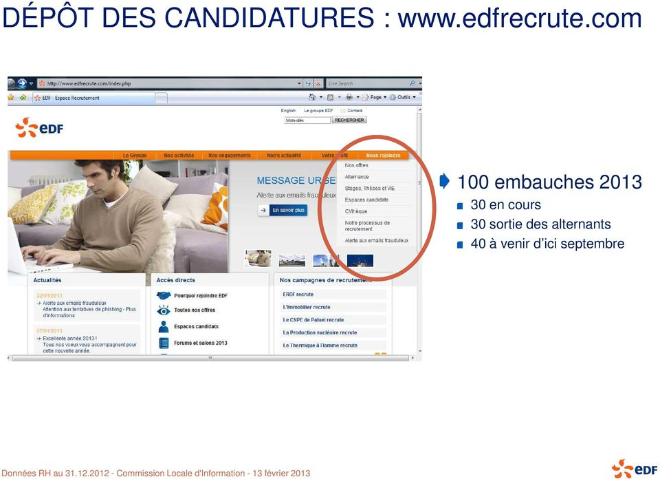 com 100 embauches 2013 30 en