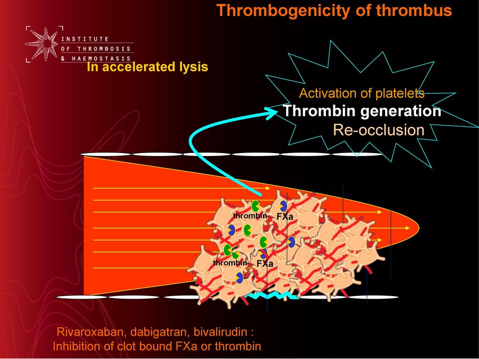Re-occlusion thrombin FXa thrombin FXa Rivaroxaban,