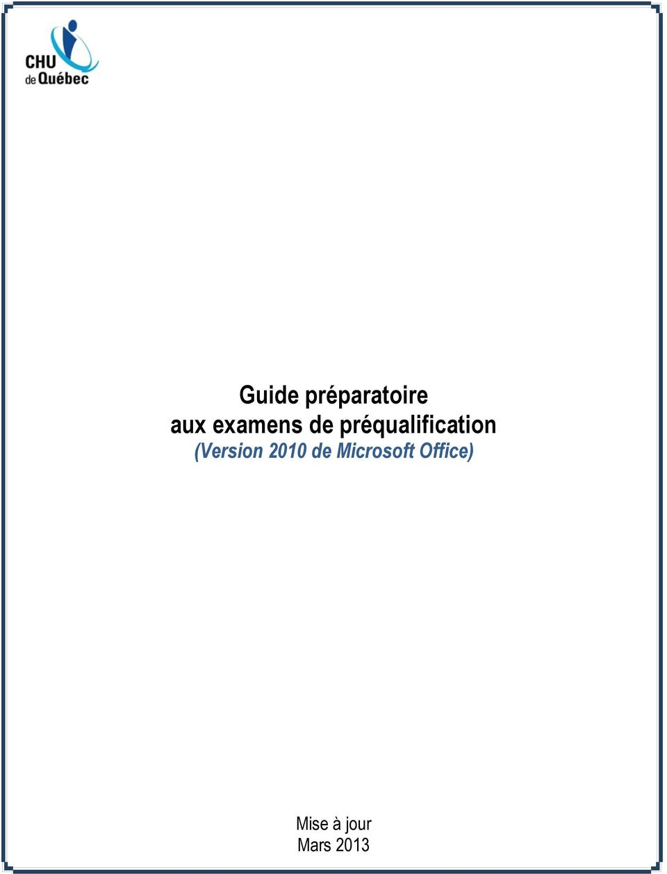 préqualification (Version