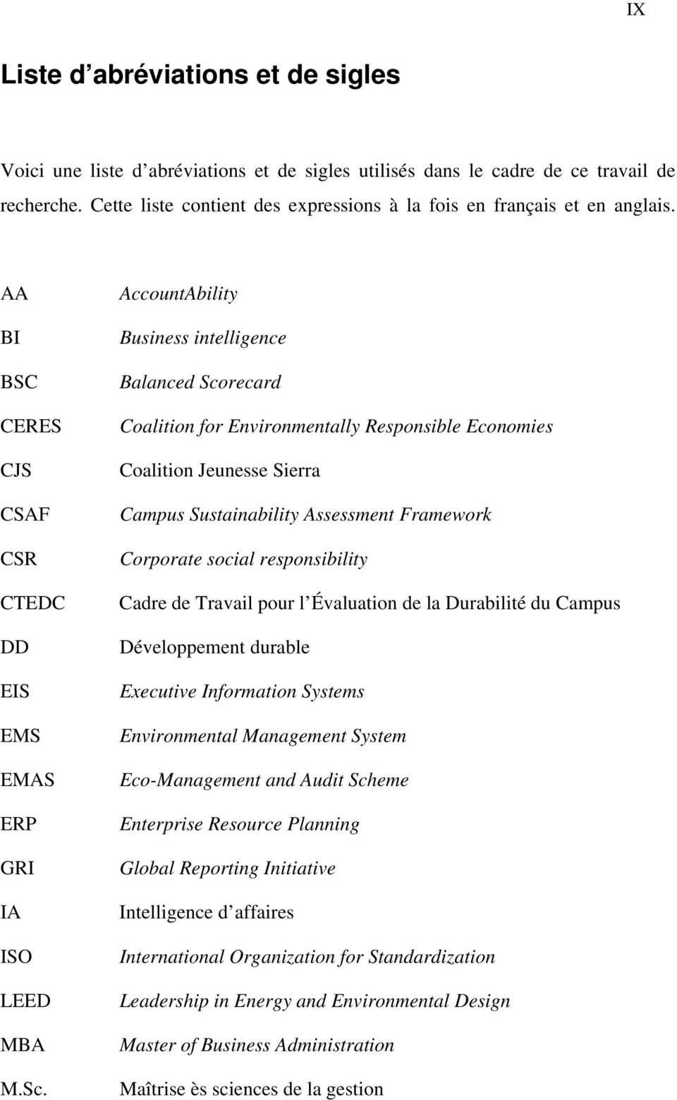 AccountAbility Business intelligence Balanced Scorecard Coalition for Environmentally Responsible Economies Coalition Jeunesse Sierra Campus Sustainability Assessment Framework Corporate social
