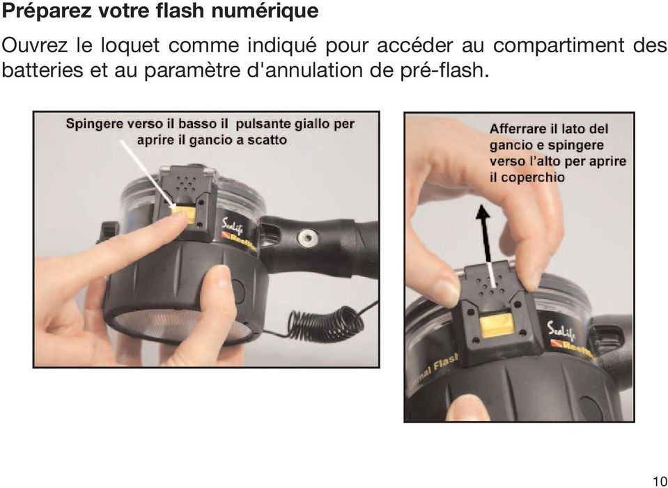 au compartiment des batteries et au