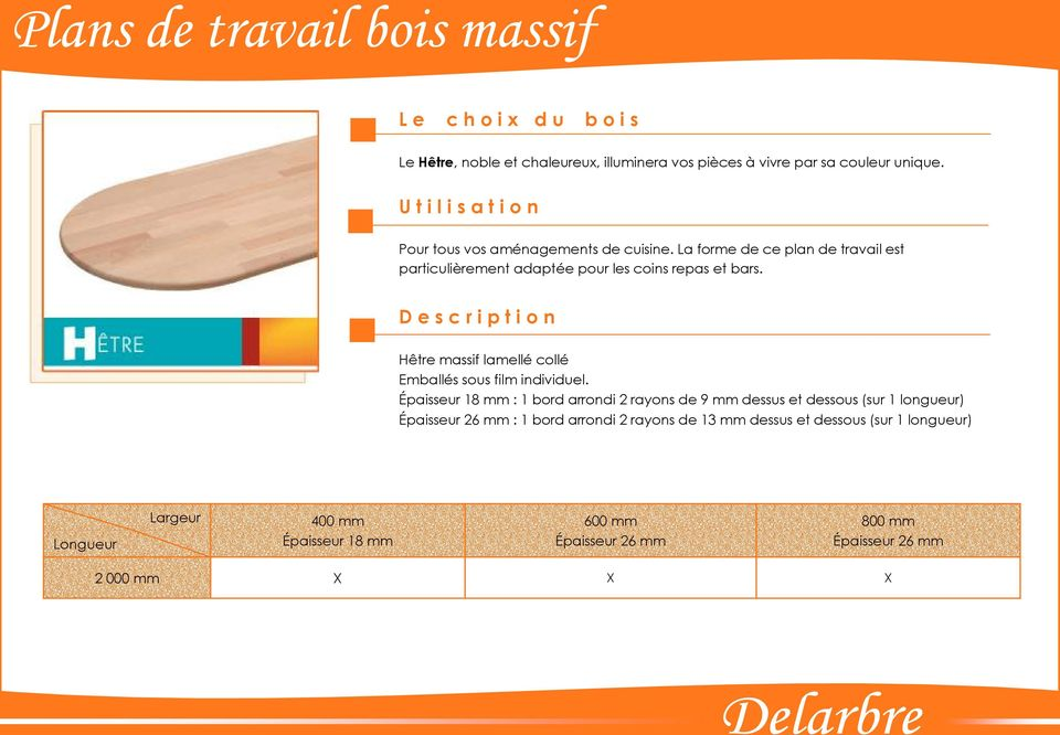 catalogue plans de travail bois massif pdf. Black Bedroom Furniture Sets. Home Design Ideas