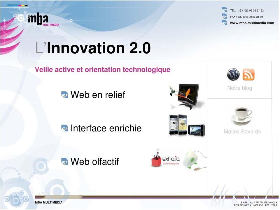 technologique Web en relief