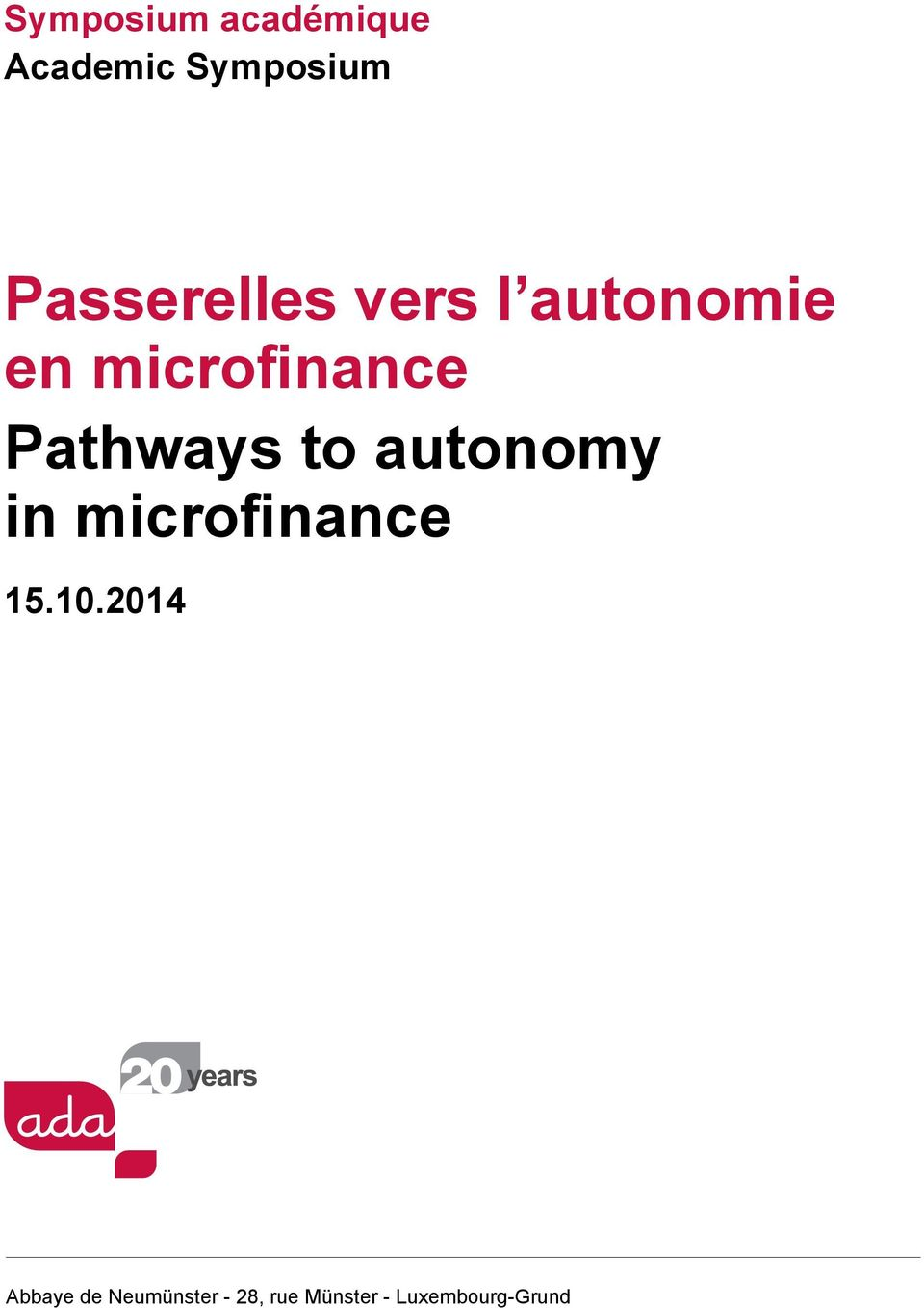 Pathways to autonomy in microfinance 15.10.
