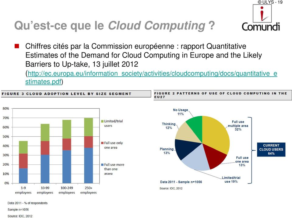 the Demand for Cloud Computing in Europe and the Likely Barriers to Up-take, 13