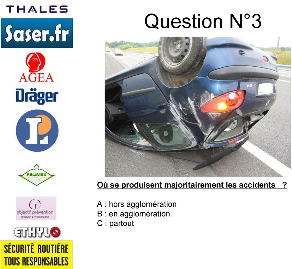 les accidents?