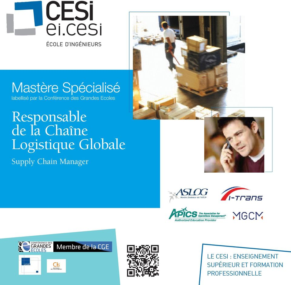 Logistique Globale Supply Chain Manager Le cesi