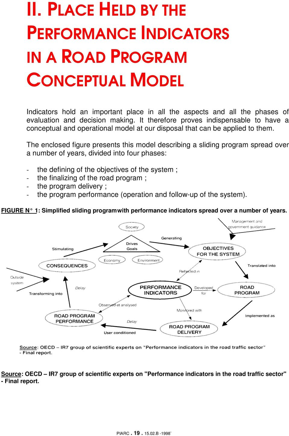 The enclosed figure presents this model describing a sliding program spread over a number of years, divided into four phases: - the defining of the objectives of the system ; - the finalizing of the