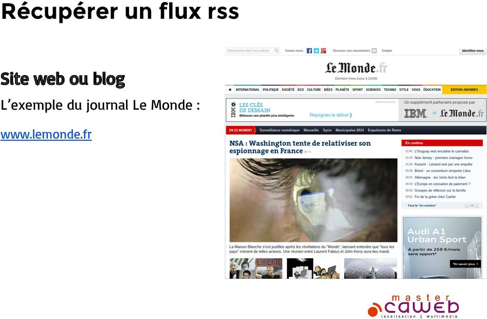 exemple du journal Le