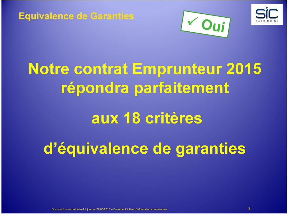 garanties Document non contractuel à jour au