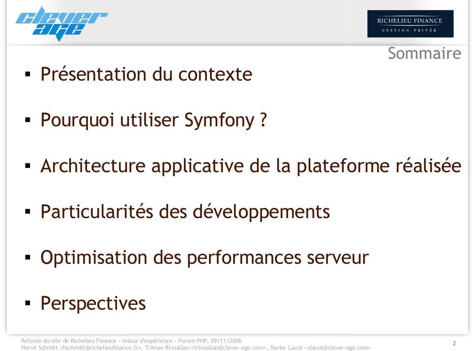 Architecture applicative de la plateforme