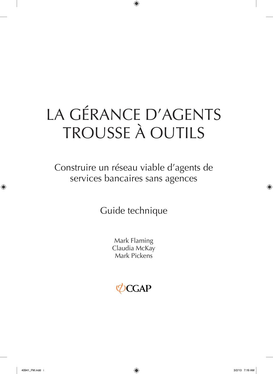 sans agences Guide technique Mark Flaming