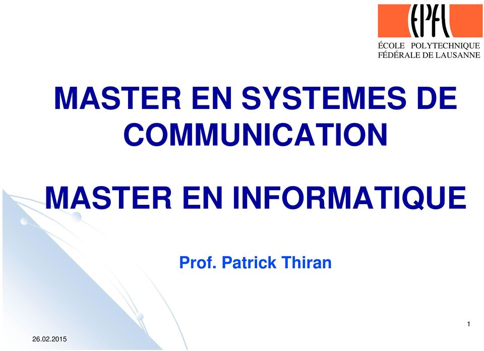 COMMUNICATION MASTER EN