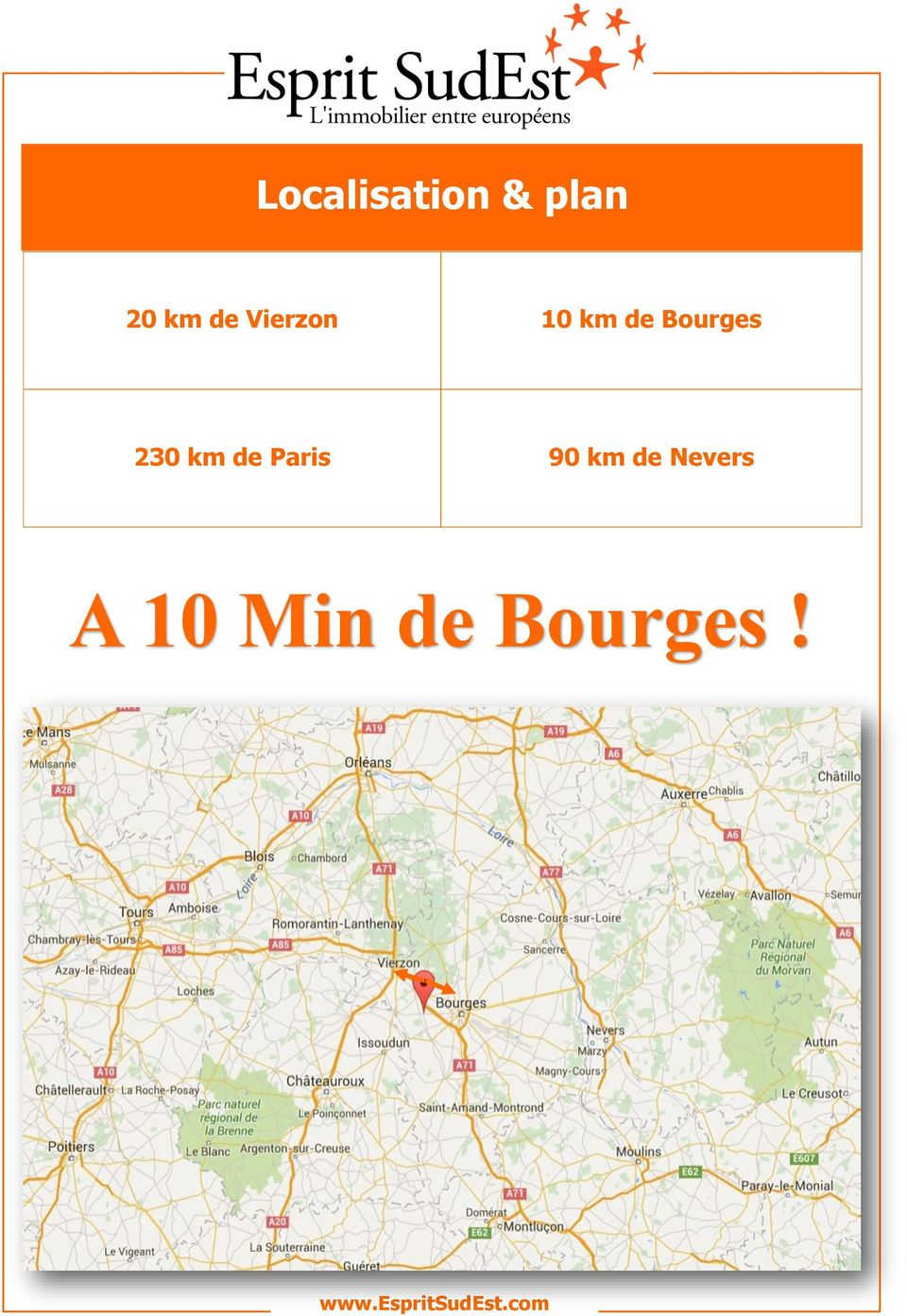 Bourges 230 km de Paris 90