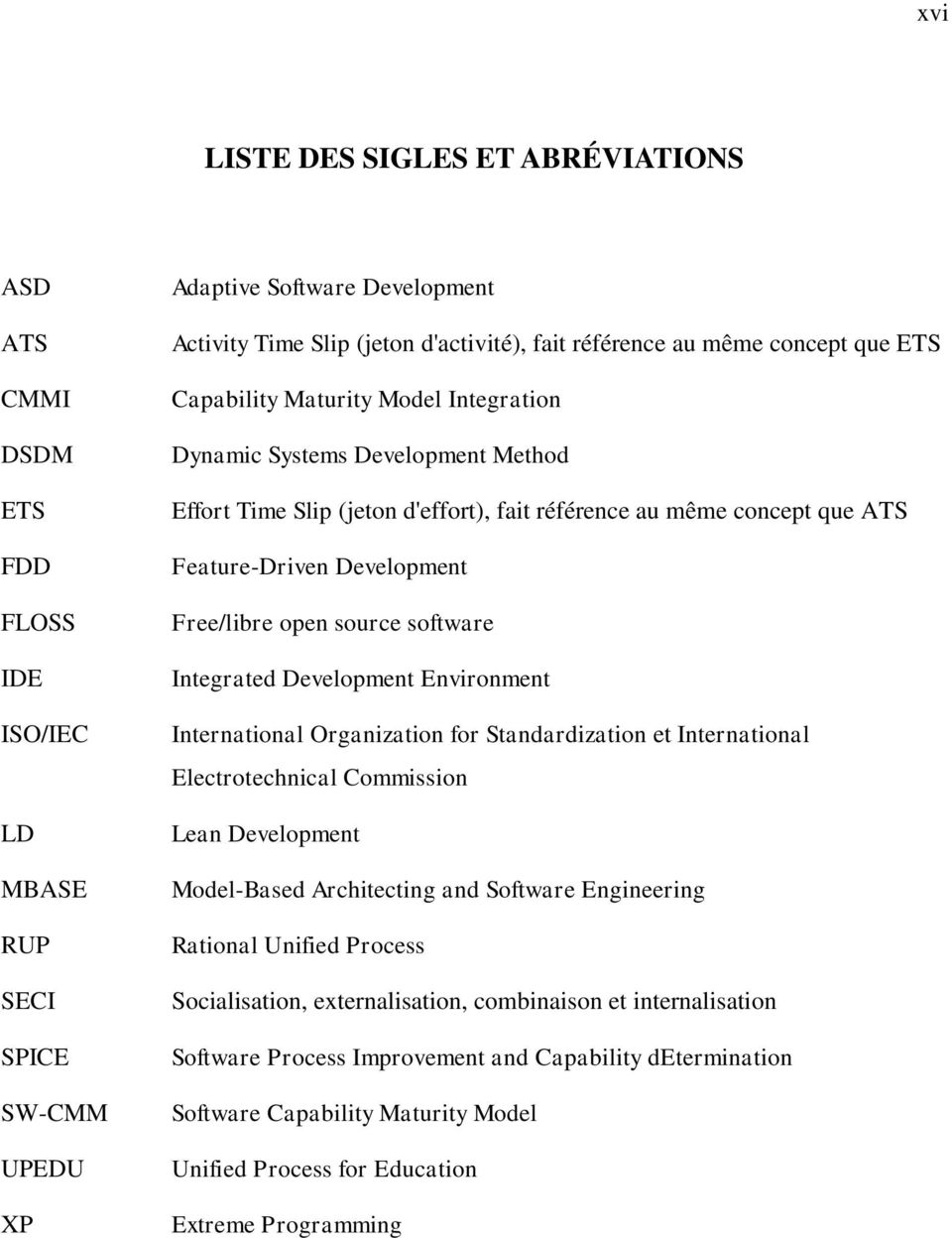 Development Free/libre open source software Integrated Development Environment International Organization for Standardization et International Electrotechnical Commission Lean Development Model-Based