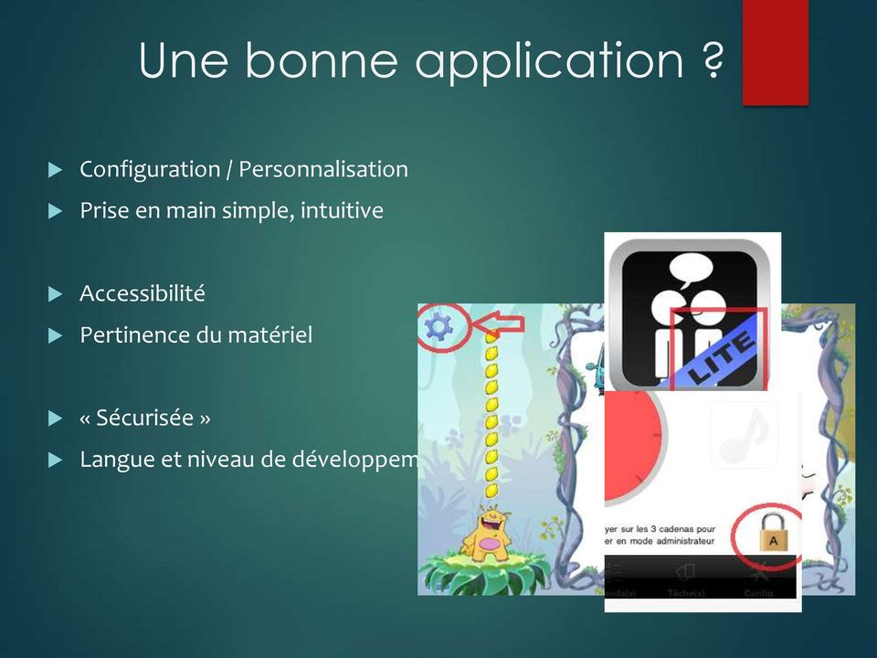 main simple, intuitive Accessibilité