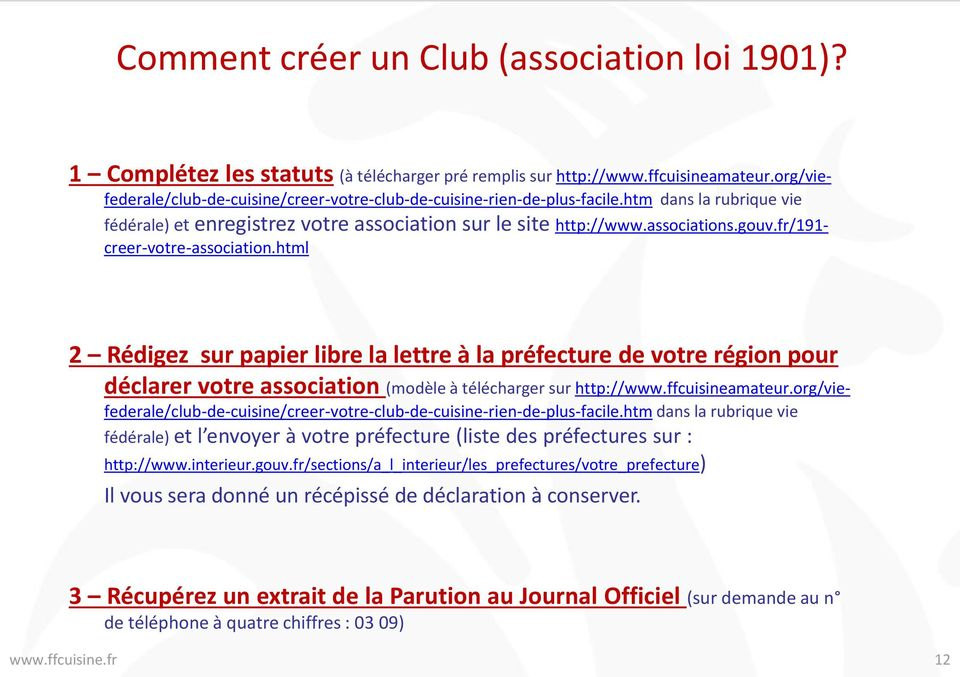 Cr er un club de cuisine amateur affilier un club pdf - Comment creer un journal ...