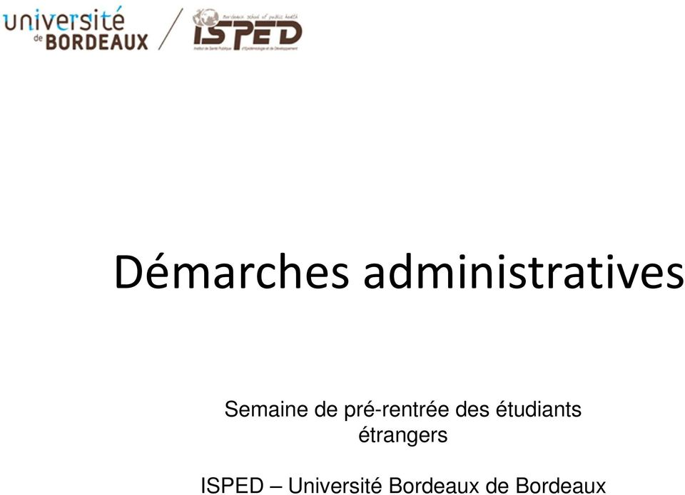 étudiants étrangers ISPED