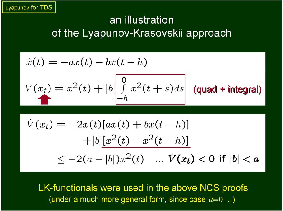 LK-functionals were used in the above NCS