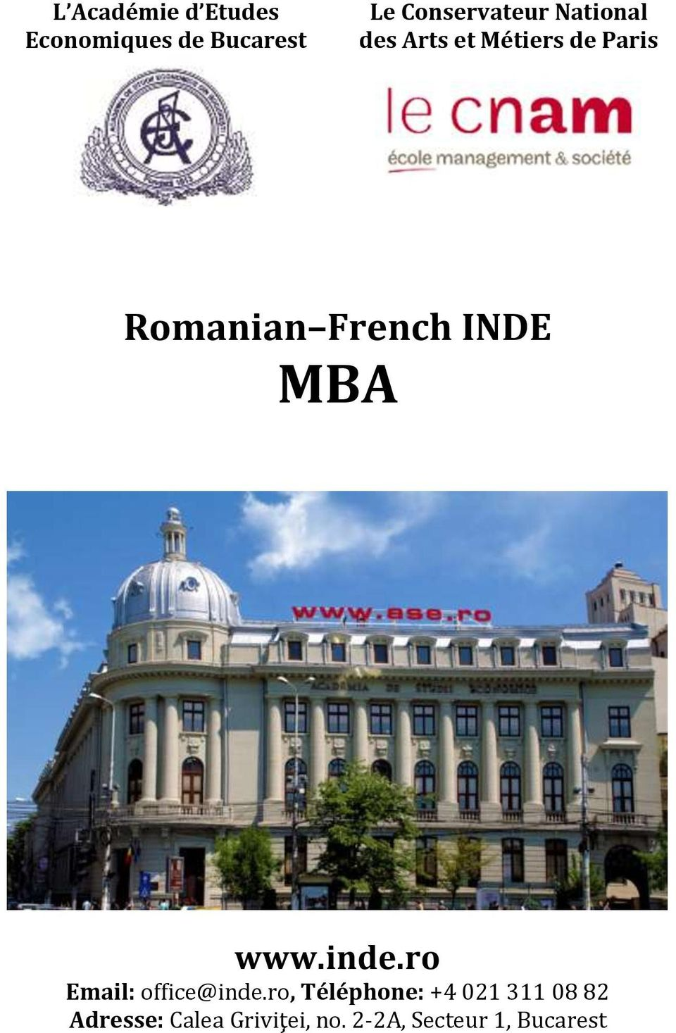MBA www.inde.ro Email: office@inde.