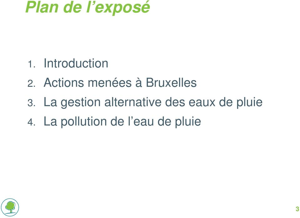 La gestion alternative des eaux de