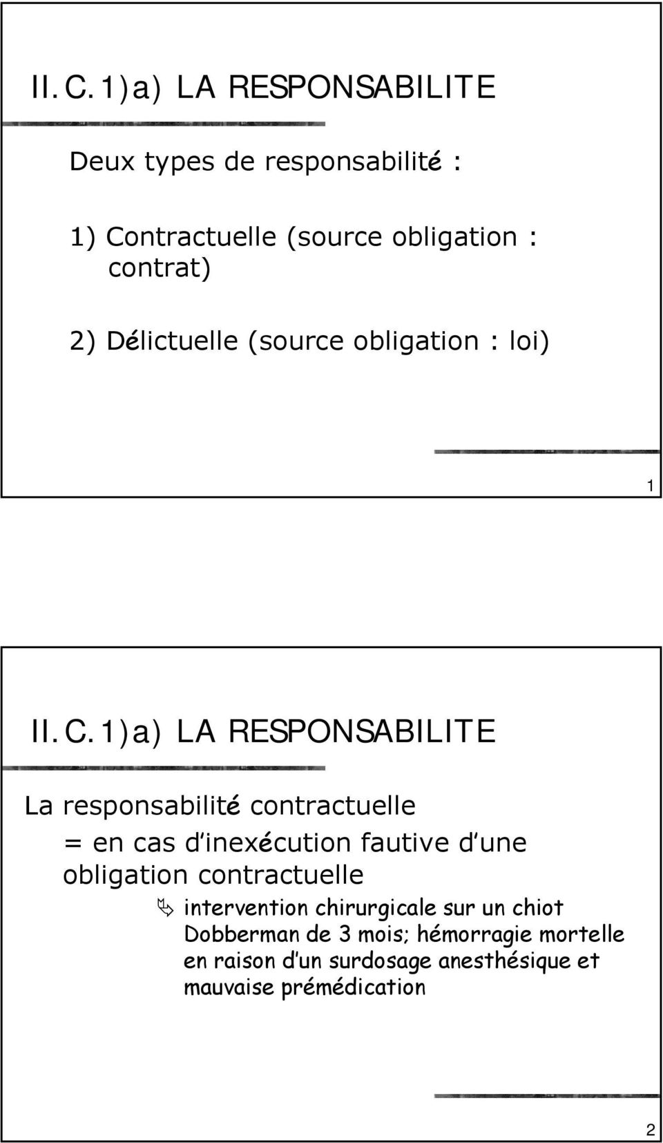 inexécution fautive d une obligation contractuelle intervention chirurgicale sur un chiot