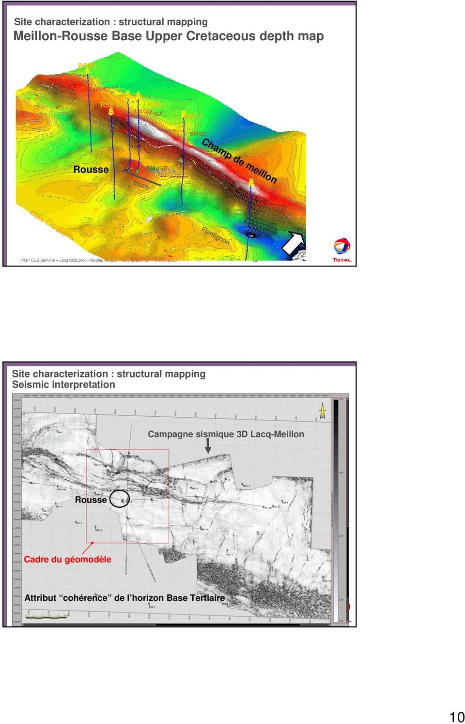 Site characterization : structural mapping Seismic interpretation Campagne sismique 3D