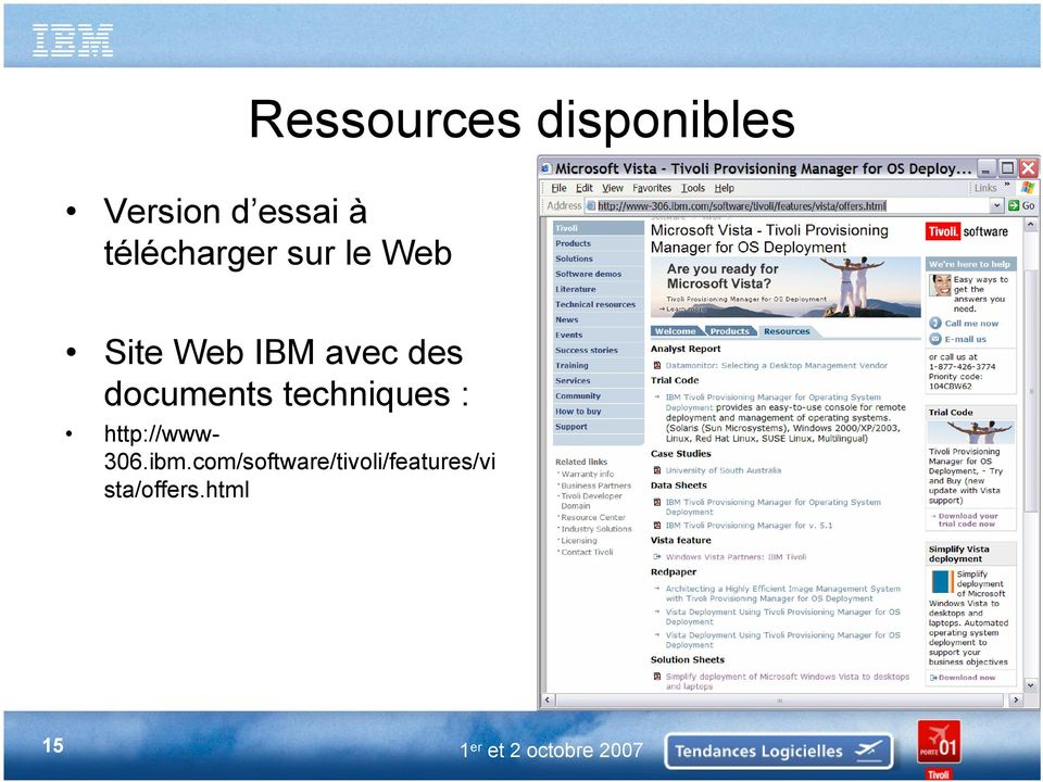 documents techniques : http://www- 306.ibm.