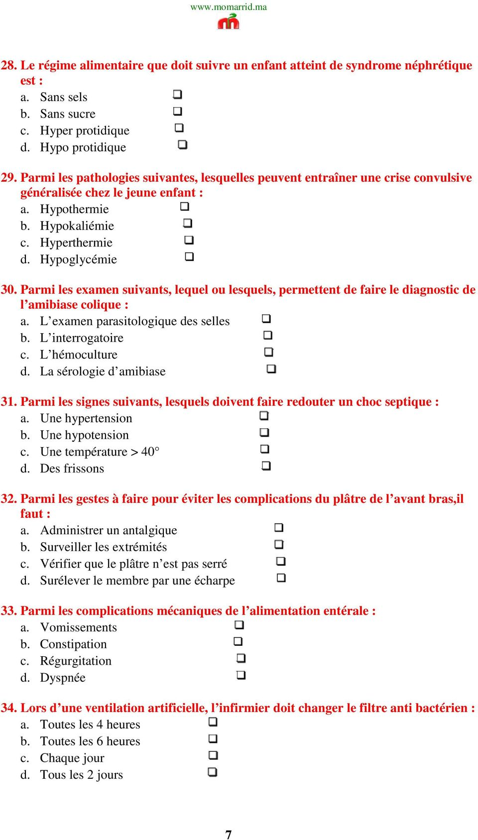 signe hypotension infirmier