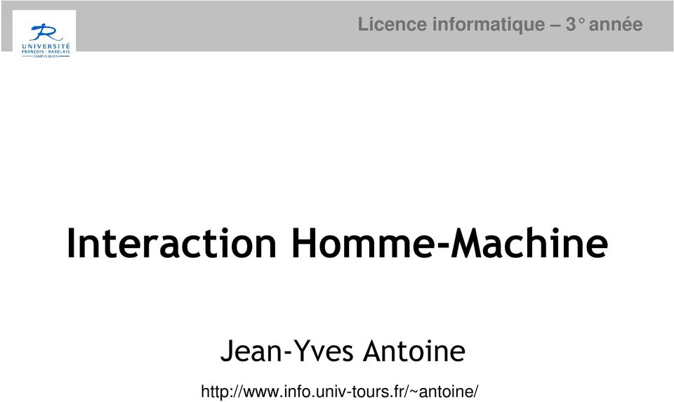 Homme-Machine Jean-Yves