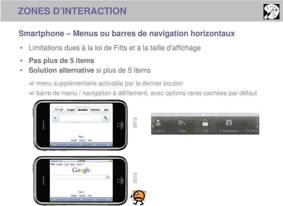 Solution alternative si plus de 5 items menu supplémentaire activable par le