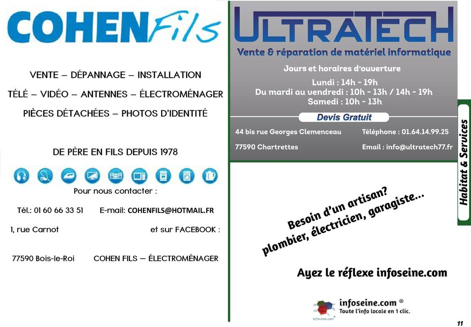 : 01 60 66 33 51 E-mail : COHENFILS@HOTMAIL.
