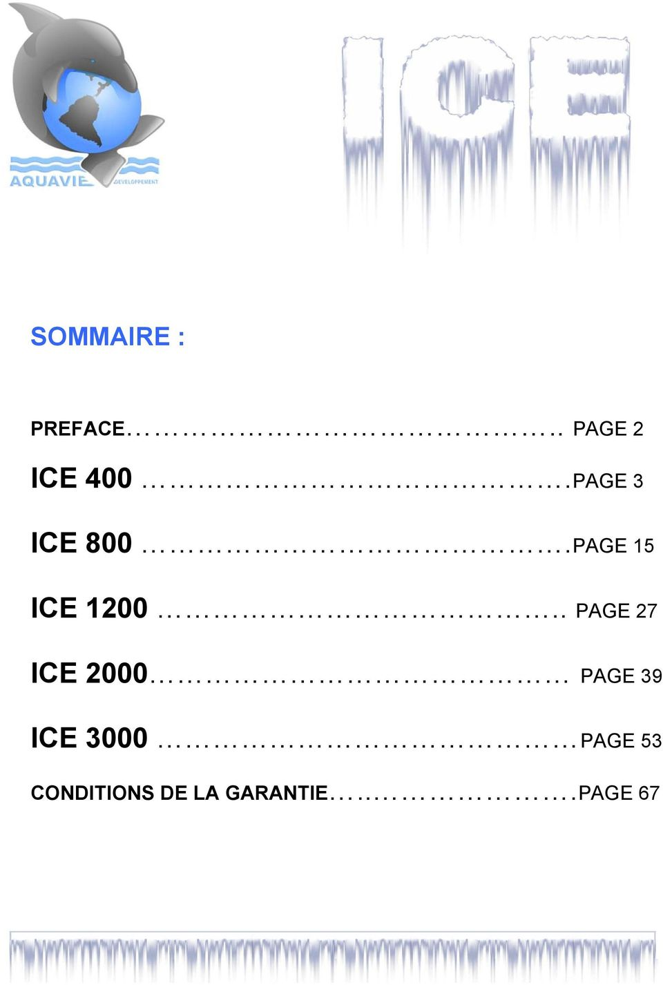 . PAGE 27 ICE 2000 PAGE 39 ICE 3000