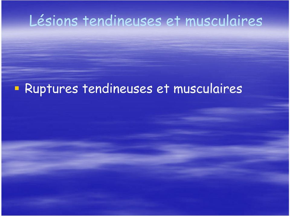 musculaires