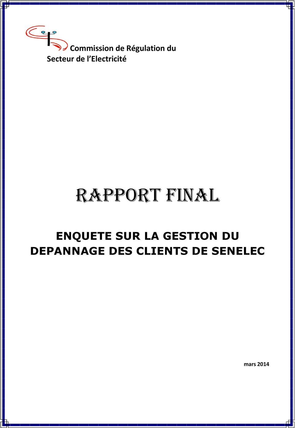 final ENQUETE SUR LA GESTION DU