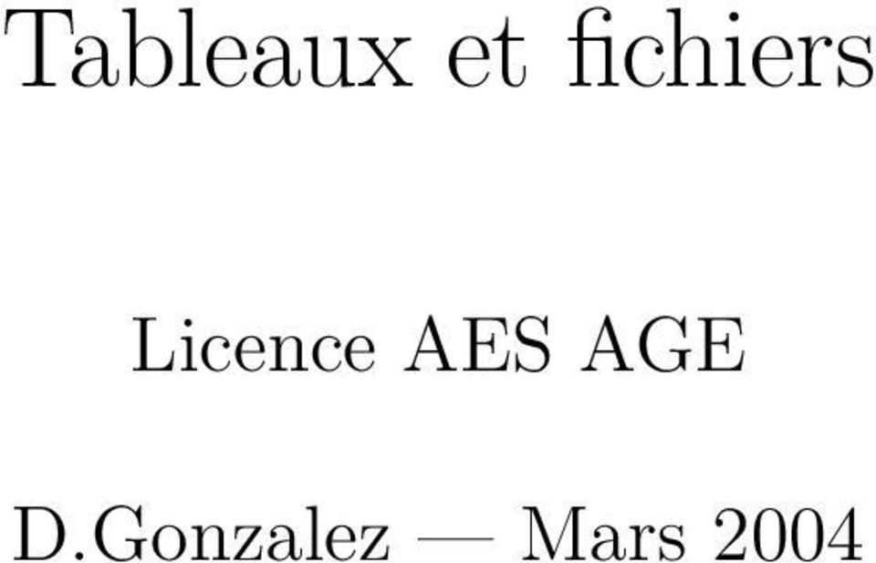 Licence AES