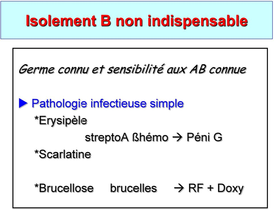 infectieuse simple *Erysipèle streptoa ßhémo