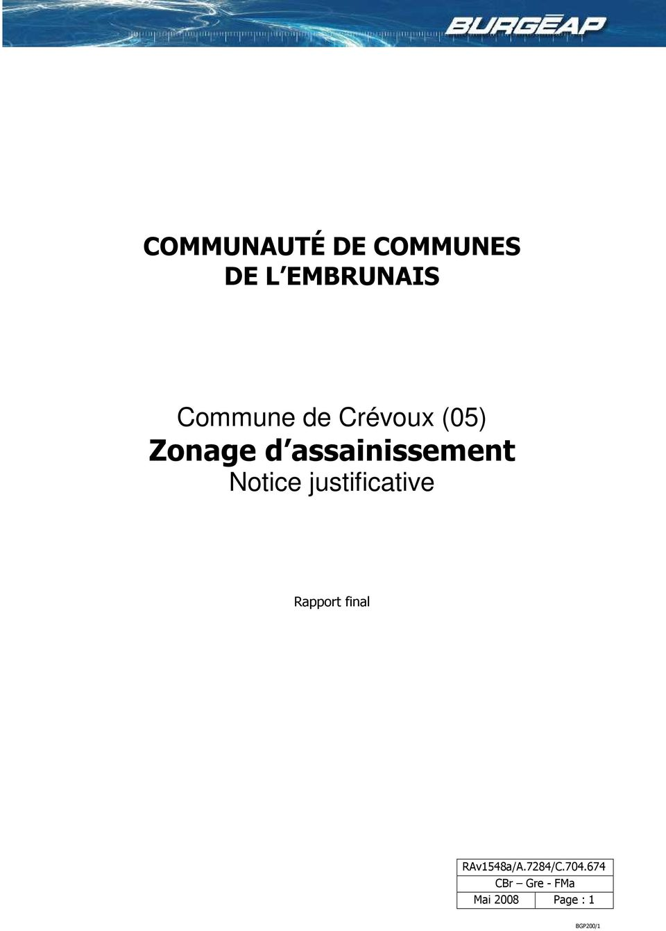 Zonage d assainissement Notice