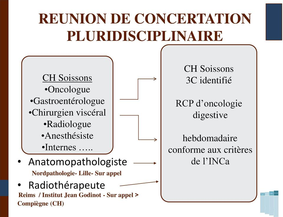 . Anatomopathologiste Nordpathologie- Lille- Sur appel Radiothérapeute Reims / Institut