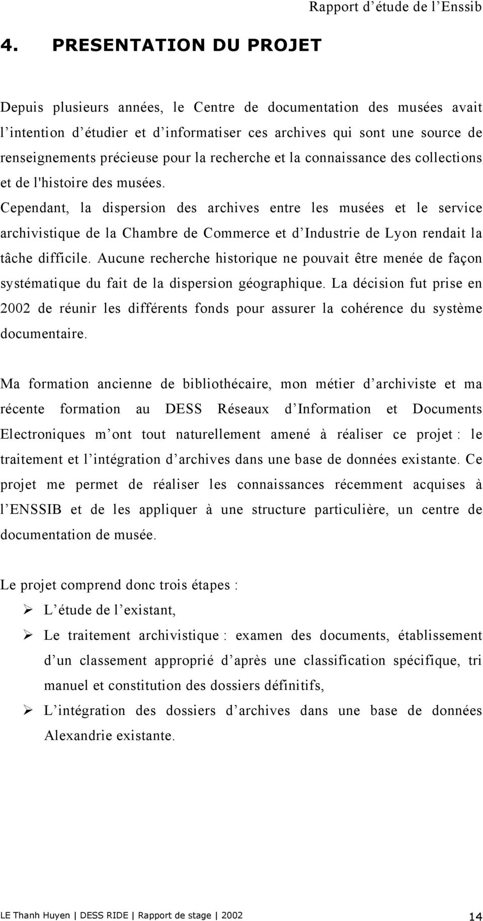 Dess r seaux d information et document lectronique for Stage chambre de commerce