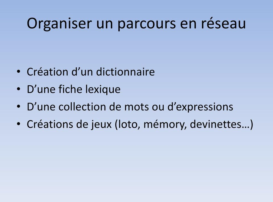 une collection de mots ou d expressions