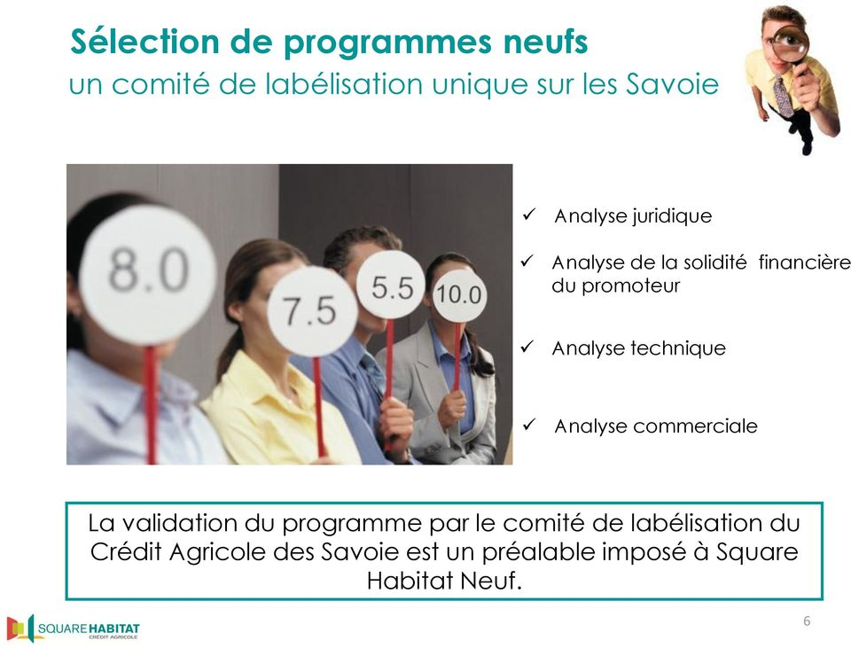 technique Analyse commerciale La validation du programme par le comité de