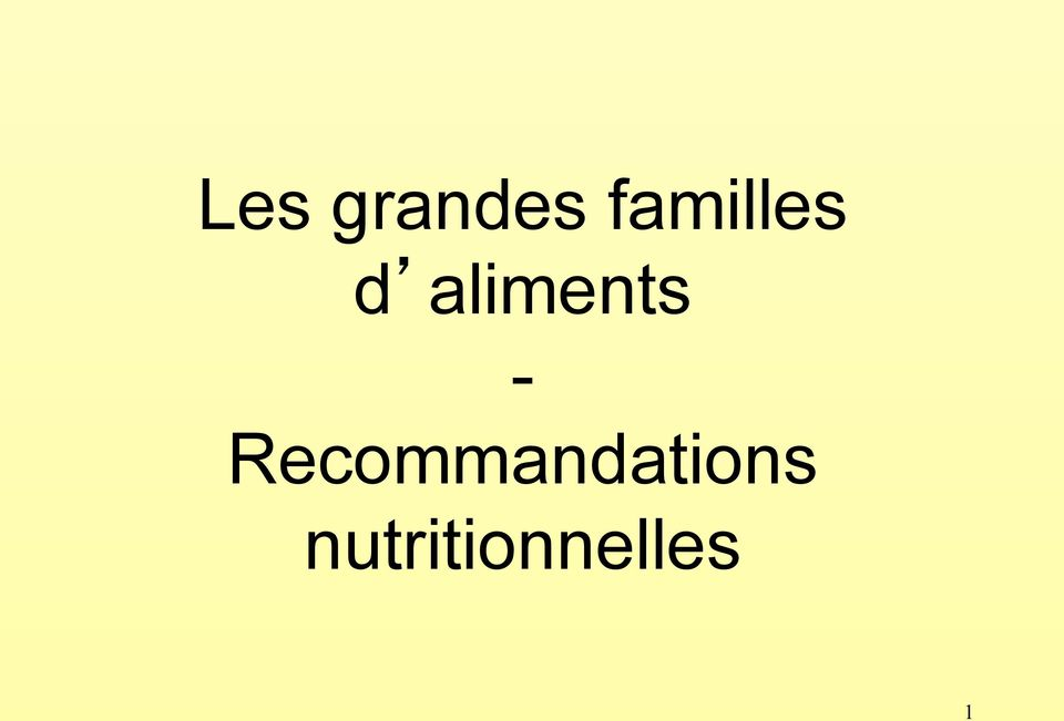 aliments -