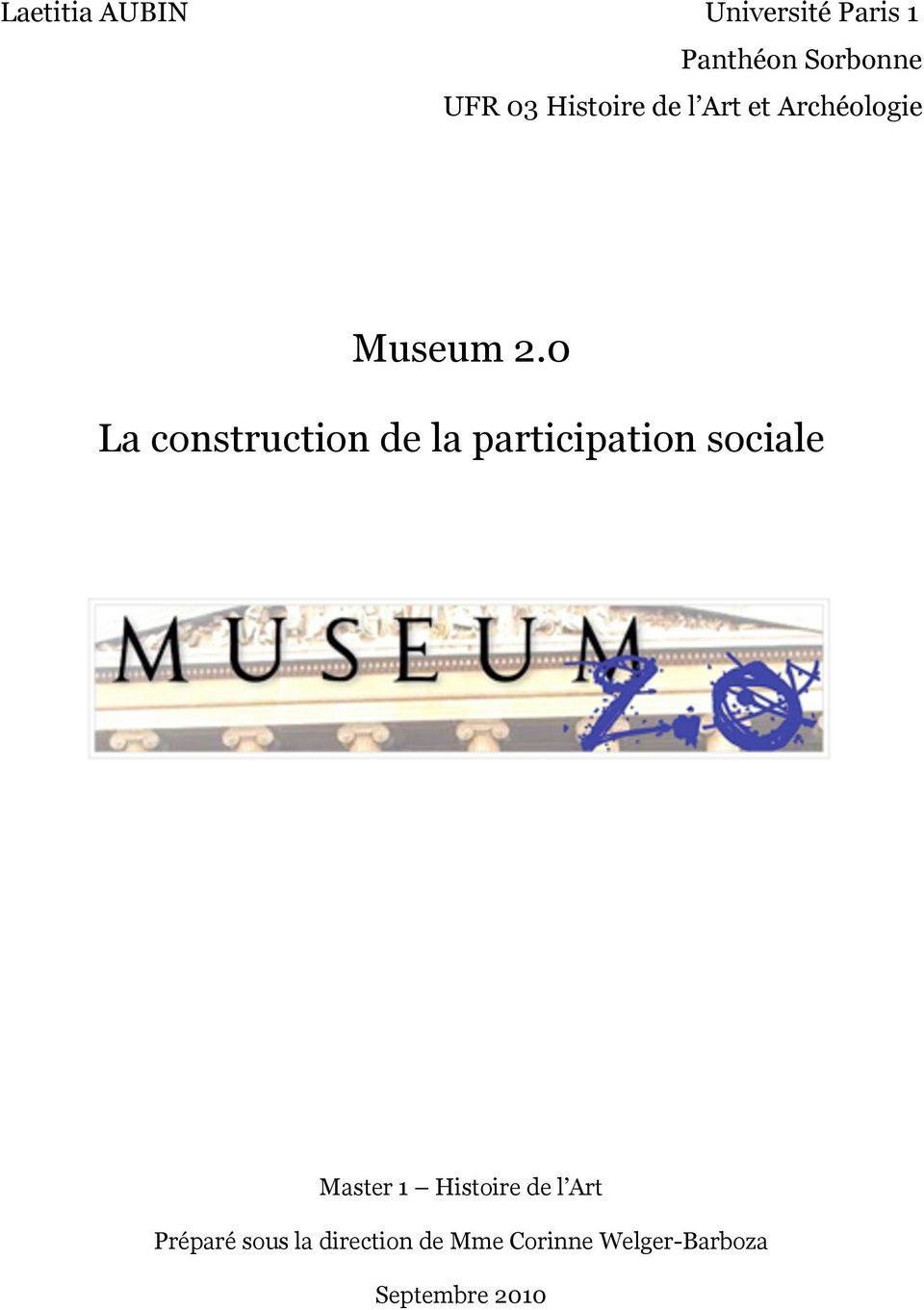 0 La construction de la participation sociale Master 1
