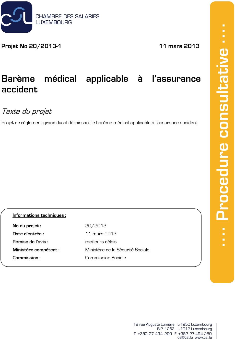 Bar me m dical applicable l assurance accident pdf for Chambre d agriculture luxembourg
