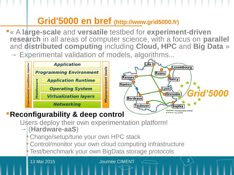 and distributed computing including Cloud, HPC and Big Data» Experimental validation of models, algorithms.