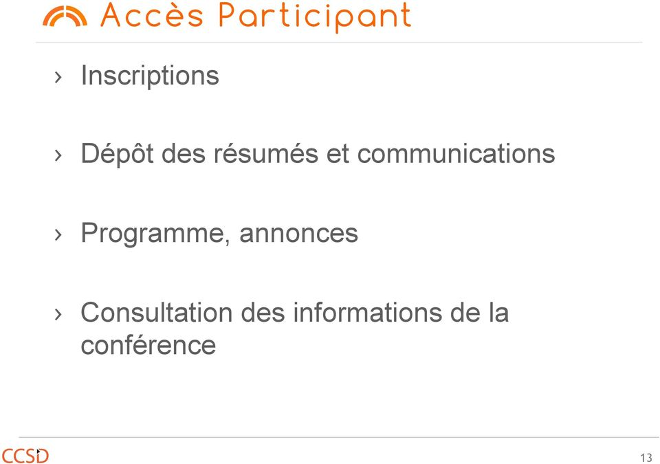 communications Programme,