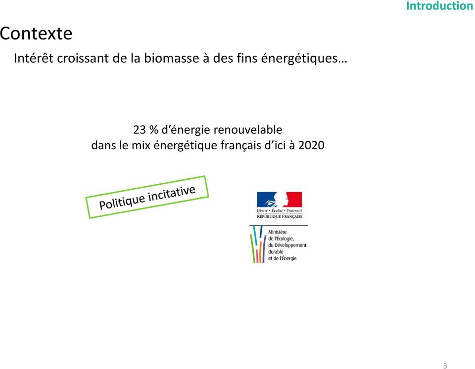 Introduction 23 % d énergie